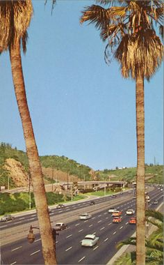 Overlooking the Caheunga Pass on the Hollywood Freeway circa 1950's