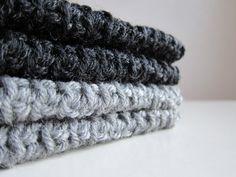 hand-knit finger-less gloves