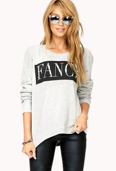 Standout Spiked Fancy Pullover   FOREVER21 We fancy #Graphic #Spikes #MustHave