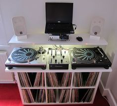 Low cost DJ stand with vinyl storage I searched around for a DJ stand and could not find exactly what I was after, either due to...