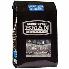 Christopher Bean Coffee Whole Bean, Holiday Blend, 12 Ounce * Check this awesome item pin  : Fresh Groceries