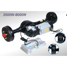 electric tricycle Automatic Shift Rear Axle motor and controller kit Electric Go Kart, Electric Motor, Electric Cars, Kit, Electric Car Conversion, Electric Tricycle, Power Ranges, Power Generator, Small Engine