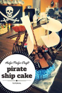 easy peasy pirate ship cake tutorial