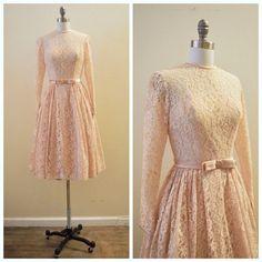 Vintage Bridal or Party 1950's Blush Pink by MirandasBridal