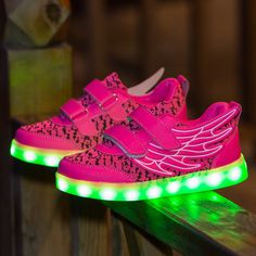>> Click to Buy << Mamimore Wing Style Children Luminous Sneakers Shoes Hook&Loop Kids Casual Shoes New Arrival Flat Lights Shoes for Boys Girls #Affiliate