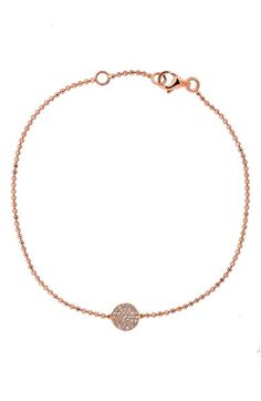 Bony Levy 'Aurora' Pavé Disc Line Bracelet available at #Nordstrom