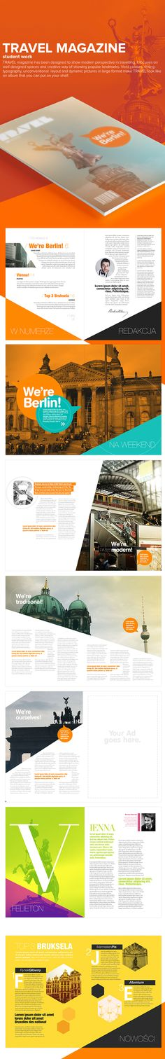 Travel Magazine on Behance