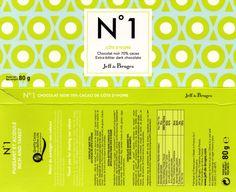 tablette de chocolat noir dégustation jeff de bruges n° 1 côte d'ivoire 70