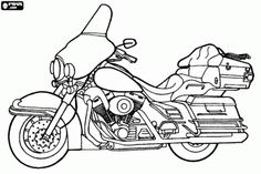 Harley-Davidson Ultra Classic Electra Glide, a luxurious motorcycle coloring page