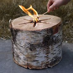 Portable bonfire pit! Just needs one match!