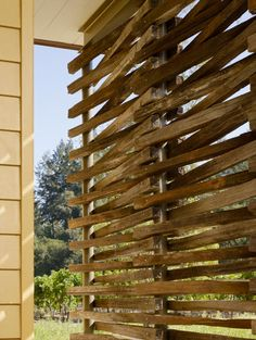 Love this modern contemporary rustic outdoor privacy screen.  desiretoinspire.net - NickNoyes