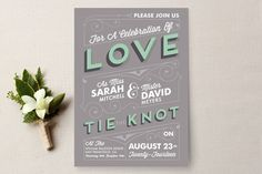 Celebrate Love Wedding Invitations by GeekInk Design at minted.com