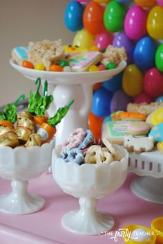 Easter Bar Cart by The Party Teacher - cookies and candy Teacher Party, Egg Hunt, Childrens Party, I Party, Baby Shower Parties, Bar Cart, Easter Eggs, Candy, Cookies