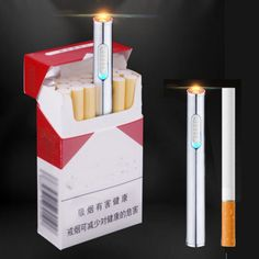 NEW Creative cigarette lighter metal shape long cigarette lighter USB charging