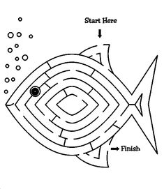 Jonah and the Whale Crafts for Preschoolers Best Of Fish Maze for Jonah Of Fishers Of Men - Blue History Sunday School Activities, Church Activities, Bible Activities, Sunday School Lessons, Sunday School Crafts, Bible Story Crafts, Bible School Crafts, Bible Crafts For Kids, Preschool Bible
