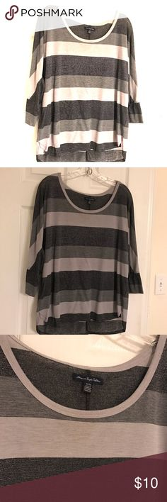American Eagle Striped Shirt Size XL American Eagle Striped Shirt Size XL American Eagle Outfitters Tops Tees - Long Sleeve