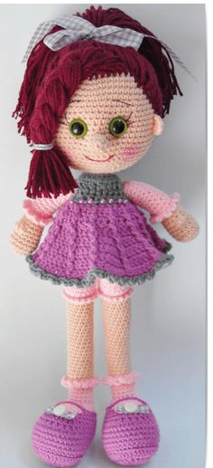 Mesmerizing Crochet an Amigurumi Rabbit Ideas. Lovely Crochet an Amigurumi Rabbit Ideas. Crochet Dolls Free Patterns, Crochet Doll Pattern, Amigurumi Patterns, Doll Patterns, Amigurumi Tutorial, Crochet Doll Clothes, Knitted Dolls, Crochet Toys, Pretty Dolls