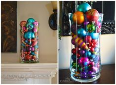 Ornament Vase | 28 Insanely Easy Christmas Decorations To Make In A Pinch