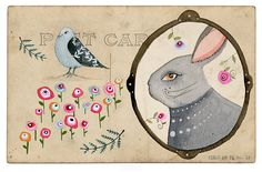 Post Card Art Print from LilyMoon on Etsy