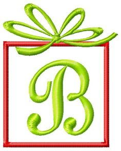 Christmas Present Machine Embroidery Monogram Font Set. $10.00, via Etsy.