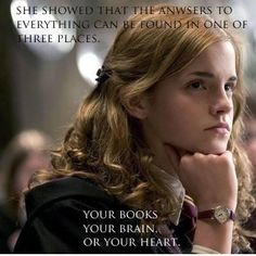 Your books. Your brains. Your heart. #HermioneGranger | Veooz