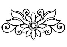 Beautiful decorative flower with leaves vector , patterned design stock vector - 26526718 Native Beading Patterns, Native Beadwork, Beadwork Designs, Henna Drawings, Easy Drawings, Hand Embroidery Designs, Embroidery Patterns, Muster Tattoos, Henna Tattoo Designs