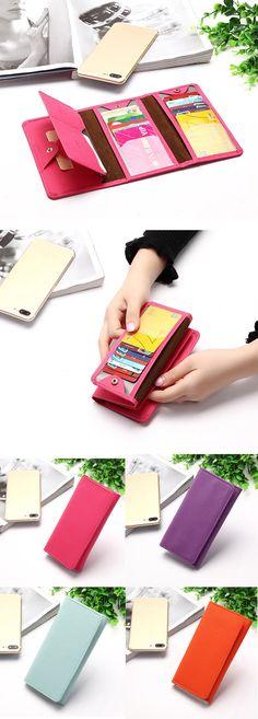 $7.19 Woman Elegant 18 Card Slots Multi-card slots Card Bag Foldable Wallet Purse