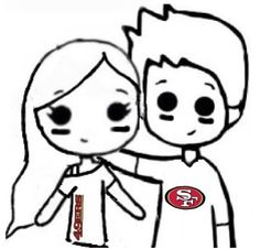 sports themed chibi couple