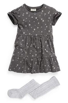 Dress And Cable Tights Set (3mths-6yrs)