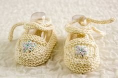 KNITTING PATTERN PDF Baby Ballet Shoes Summer di heaventoseven