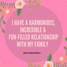 Family is SO important to me! They are the ones that have always supported me, so I'm always making sure to create a harmonious relationship with them ❤️ #relationshipgoals