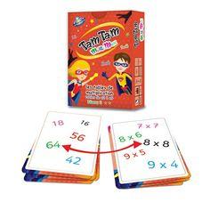 Jeu pour apprendre ... Les tables de multiplication : voici une sorte de Dobble, version mathématique. Plus d'informations en magasin ou sur www.camilleandco.be