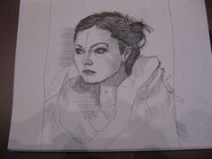 When I get bored at work, I draw my wife. - Imgur