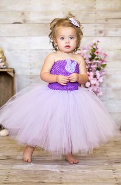 Newborn - Size 9 Lavender Purple Easter Tutu Dress