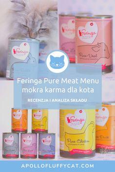 Kilka miesięcy temu na rynku pojawiła się nowa monobiałkowa Feringa Pure Meat Menu. Zastanawiasz się, czy ta karma to dobry wybór dla Twojego kota? W tym artykule poznasz moją szczegółową analizę, efekty testów i przemyślenia na temat tej mokrej karmy dla kotów. Karma, Fluffy Cat, Apollo, Menu, Pure Products, Blog, Menu Board Design, Blogging, Apollo Program