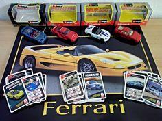 Ferrari F50 / 456 GT, Dodge Viper, Porsche 959, 1:43 + 3 Auto Quartetts + Poster