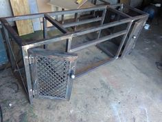 TV console Steel frame. My very First own project on industrial furniture and I am so excited such that I could not wait to post it until it was completed.