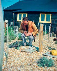 Derek Jarman in his garden -
