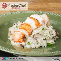 Lobster & Mushroom Risotto #recipe, inspired by MasterChef Canada's Eric.     http://www.kraftcanada.com/recipes/lobster-mushroom-risotto-161463