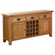 Franklin 3 Drawer 2 Door Wine Table
