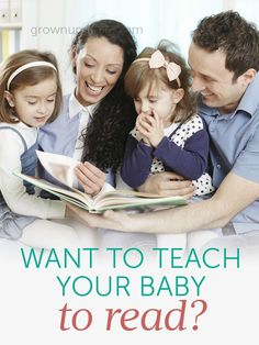 Want to Teach Your Baby to Read? - Grown Ups Magazine - Don't fall for gimmicks. Get your little ones ready for reading with stimulating conversation!