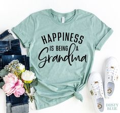 Happiness Is Being A Grandma T-shirt | Visionary Creation Co
