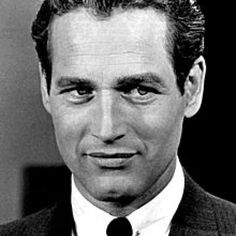 Young Paul Newman in White Buttondown and Black Tie