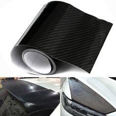 4xfibra de carbono 60inch película de vinilo etiqueta engomada del coche shinny brillo envoltura calcomanía