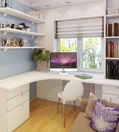 Study Room Design, Study Room Decor, Small Room Design, Kids Room Design, Home Room Design, Home Office Design, House Design, Girl Bedroom Designs, Room Ideas Bedroom