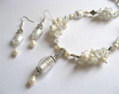 Set mireasa din cristale Murano - bijuterii mirese, idecai cadouri femei nunta