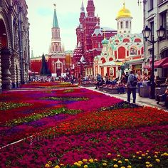 Moscova. #travel #flower #fun #rusia #greatview
