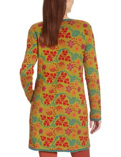 LANA natural wear Damen Strickjacke, geblümt 122 2014 2206 / Jacke Katinka lang, Gr. 46/48 (XL), Grün (Katinka ginko): Amazon.de: Bekleidung