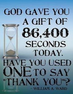How Many Seconds Do We Need To Say Thank You?