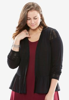 """4f42b131e18 """"Throw-on-and-go layer A casual everyday cardi with a breezy"""